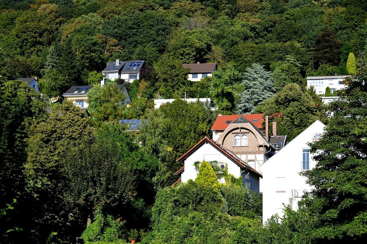 Mehrere Häuser in Hanglage in Heidelberg