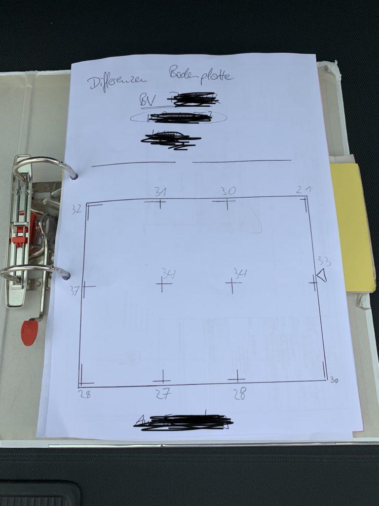 Nachweis / Plan / Grundriss der Okal Haus Bodenplatte
